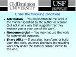 under the following conditions1