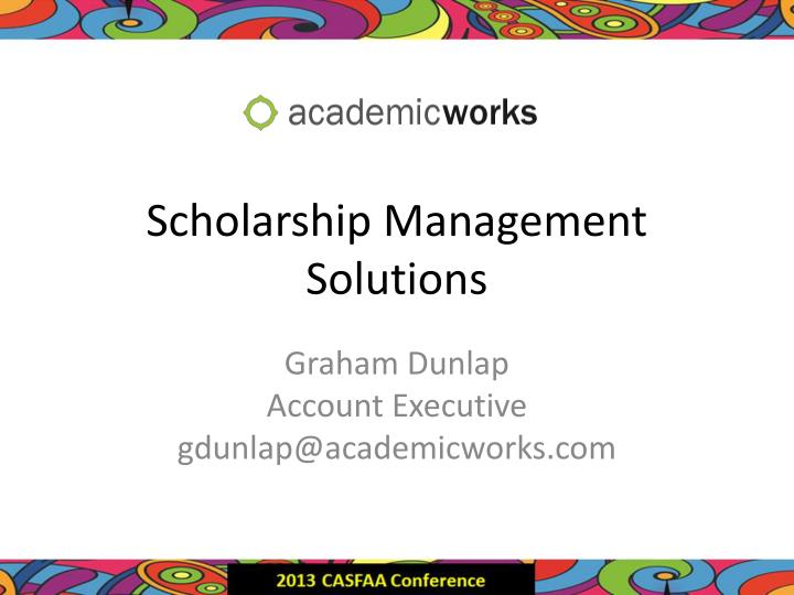 scholarship management solutions n.
