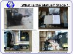 what is the status stage 11
