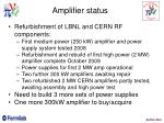 amplifier status