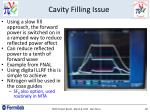 cavity filling issue