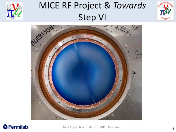 mice rf project towards step vi n.
