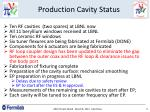 production cavity status