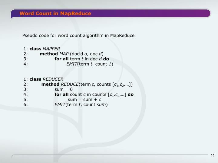 Word Count in MapReduce