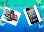 mobile and tablets