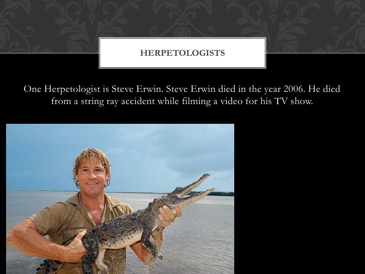 Herpetologists