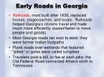 early roads in georgia
