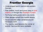 frontier georgia