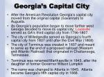 georgia s capital city