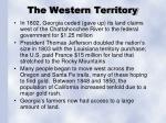 the western territory