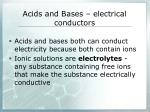 acids and bases electrical conductors