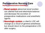 perioperative nursing care physical assessment clinical manifestations1