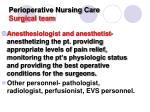 perioperative nursing care surgical team1