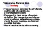 preoperative nursing care anxiety