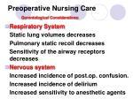 preoperative nursing care gerontological considerations1