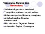 preoperative nursing care medications
