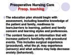preoperative nursing care preop teaching