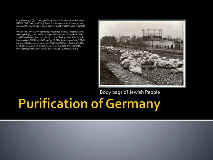 purification of germany n.