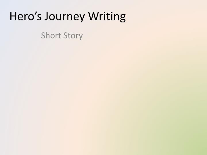 hero s journey writing n.