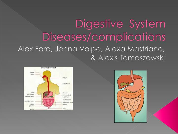 digestive system diseases complications n.
