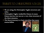 tribute to christopher volger