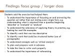 findings focus group larger class