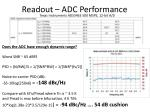 readout adc performance