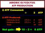 aerobic glycolysis atp production