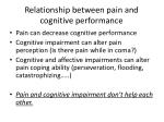 relationship between pain and cognitive performance