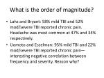what is the order of magnitude