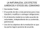 la naturalesa los efectos jur dicos y eticos del convenio