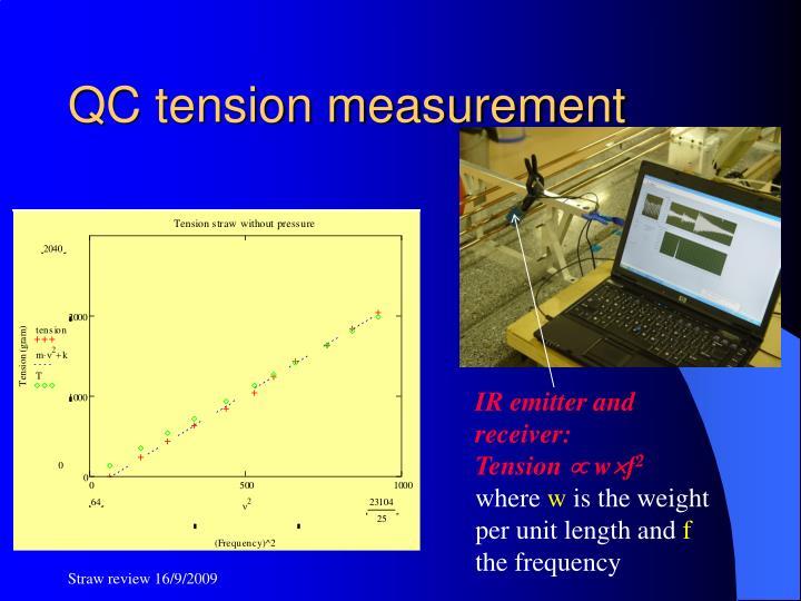 QC tension measurement