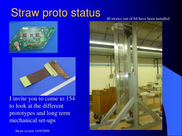 Straw proto status