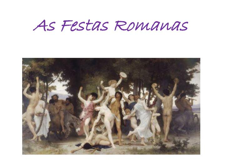 as festas romanas n.