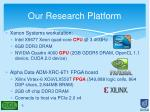 our research platform