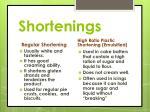 shortenings