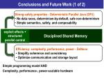 conclusions and future work 1 of 2