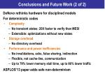 conclusions and future work 2 of 2