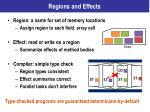 regions and effects