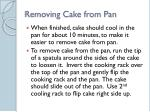 removing cake from pan