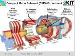 compact muon solenoid cms experiment