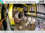 descent of the central wheel 2000 tons