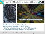 heart of cms all silicon tracker 200 m 2