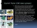 crystal forms 230 space groups