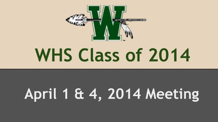 whs class of 2014 n.