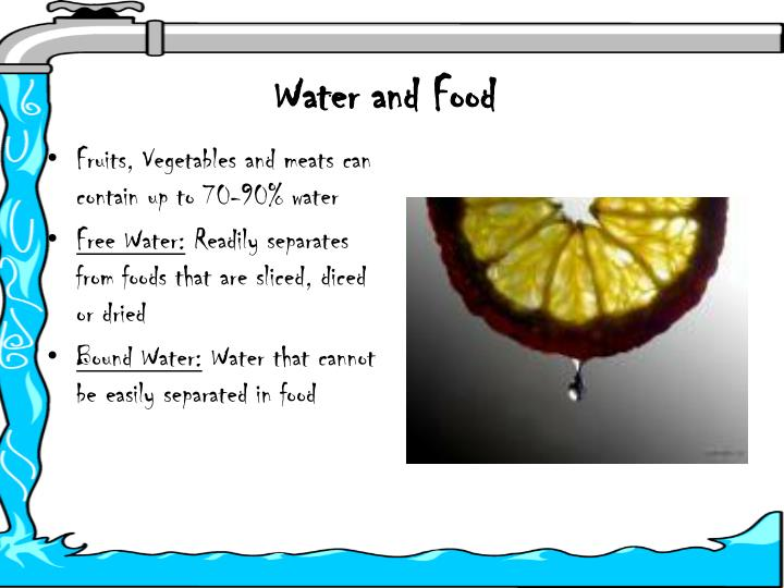 water and food n.