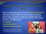 indigenous community based education icbe
