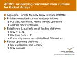 armci underlying communication runtime for global arrays