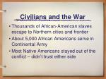 civilians and the war