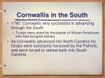 cornwallis in the south